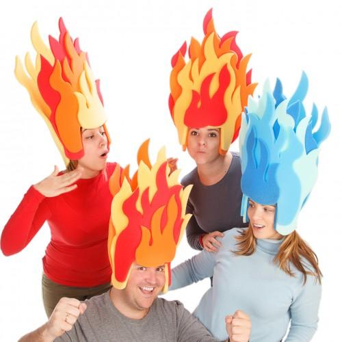 Peluca Llamas de Fuego