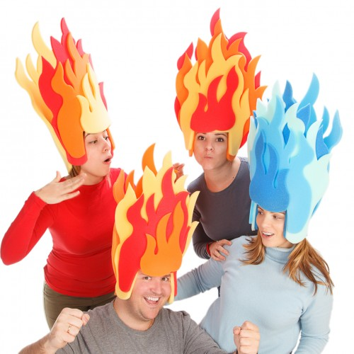 Fire Flames Wig