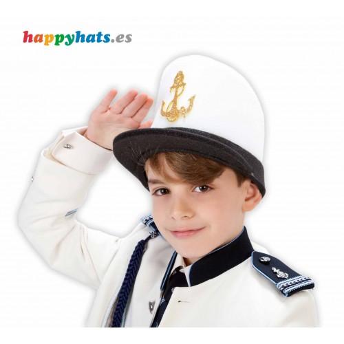 Gorro capitan de barco comunión