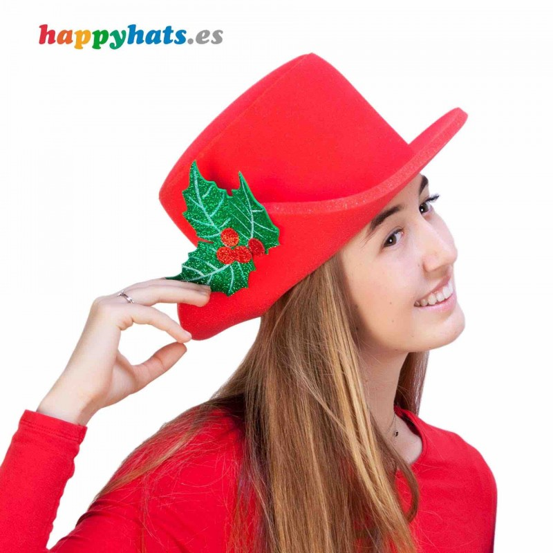Chistmas Holly Leaf Hat