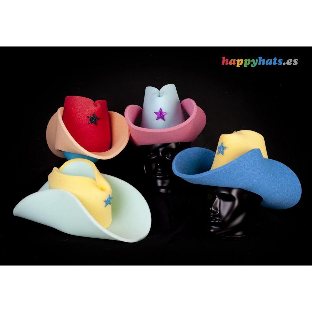 Sombrero de gomaespuma vaquero con estrella de Sheriff. 1fa530ab6a2